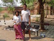 Vendedores en Bagan